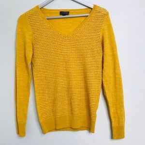 The Limited V Neck Sweater Mustard Size Small